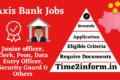 Axis Bank Jobs 2021 – Many Significant Posts Available Now